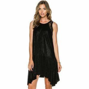 Free People Polka Dot Lace Inset Dress